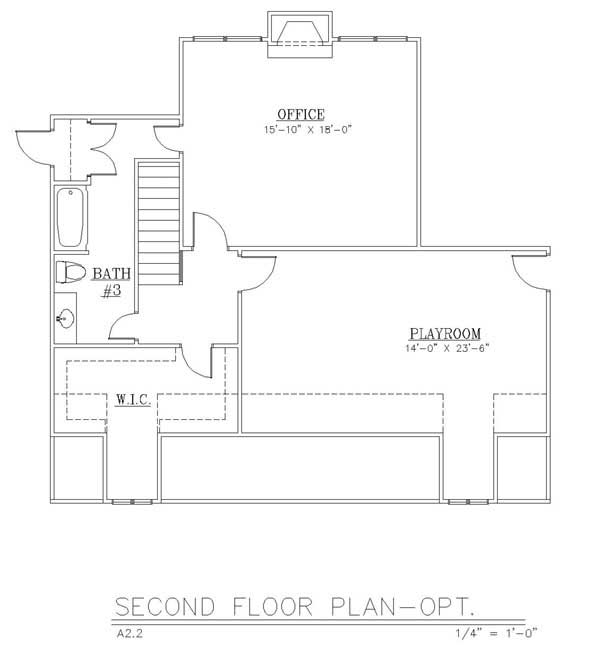 Optional 2nd Floor (included in set) by DFD House Plans